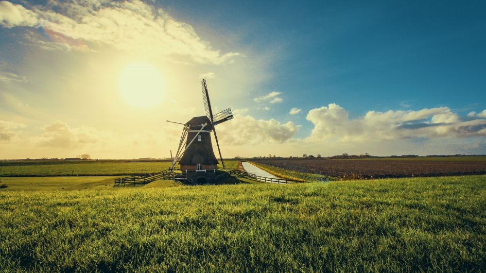 Vintage Black Windmill During Sunset 952632